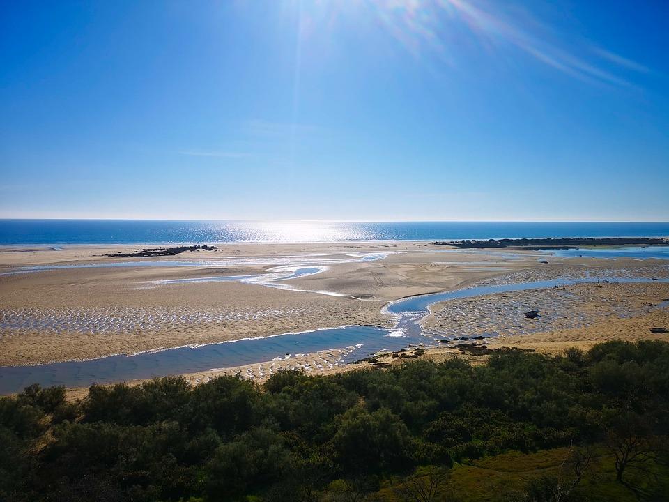 Cacela Velha, Ocean, Ria Formosa, Algarve, Portugal
