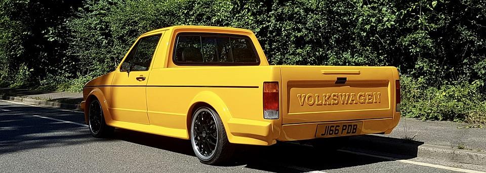 Vw Caddy, Caddy, Vw, Custom, Yellow