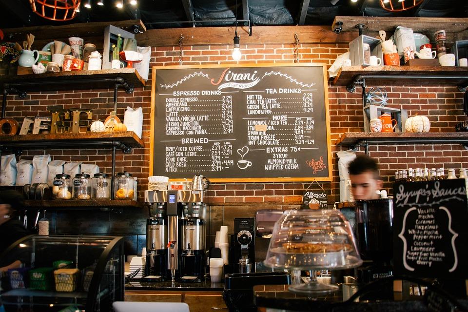 Cafe, Barista, Coffee Shop, Counter, Coffee Machine