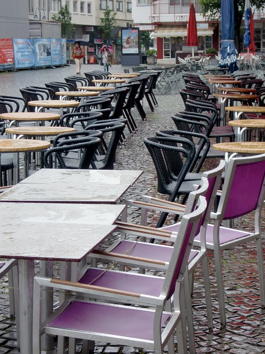 Rain, Chairs, Street Cafe, Seat, Cafe, Out, Moist