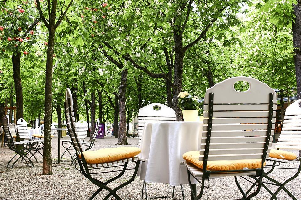 Baden Baden, Cafe, Coffee, Park, Goetheplatz