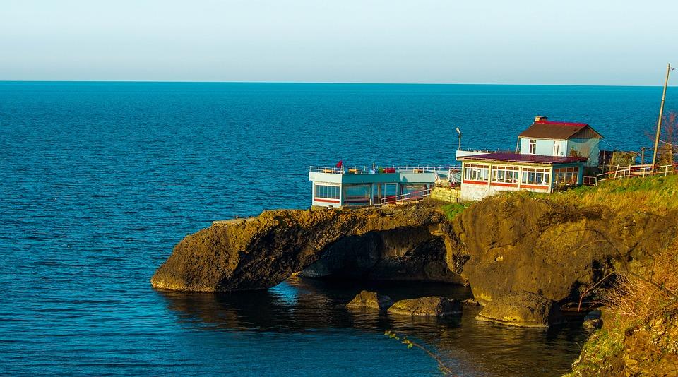 Restaurant, Cafe, Marine, Blue, Black Sea, Building