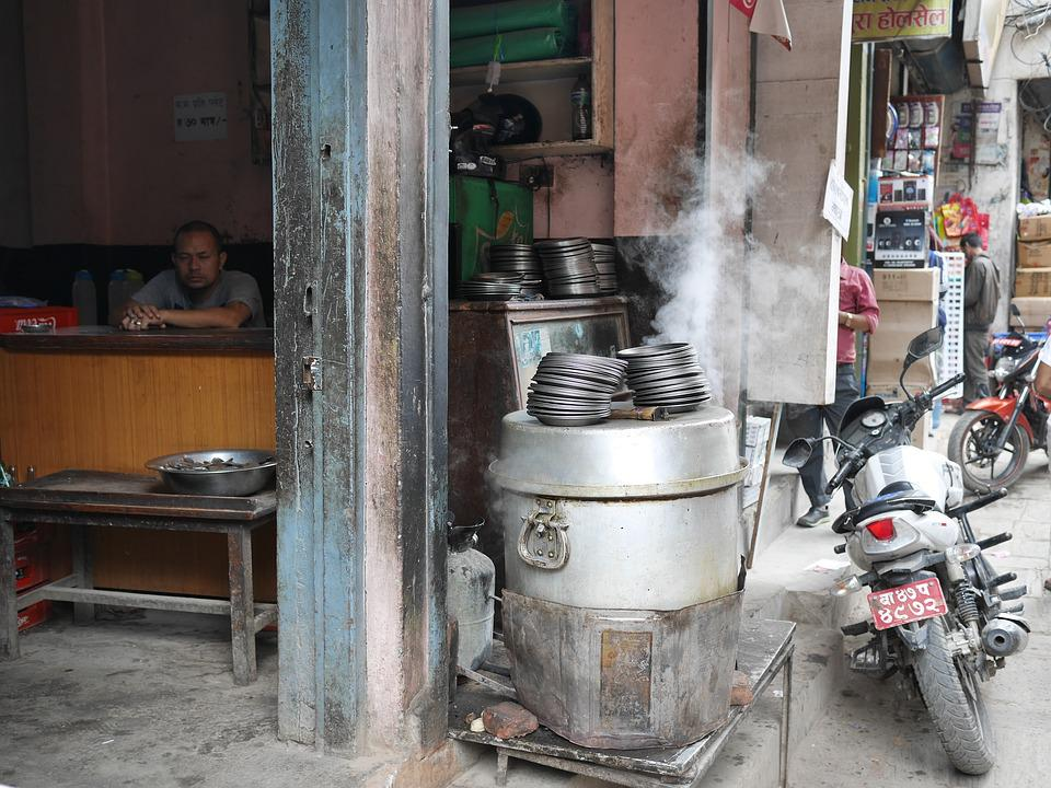 Nepal, Kathmandu, Travel, Life On The Streets, Cafe