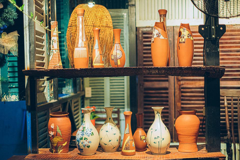 Jug, Jar, Vase, Ceramic, Retro, Antique, Vintage, Cafe