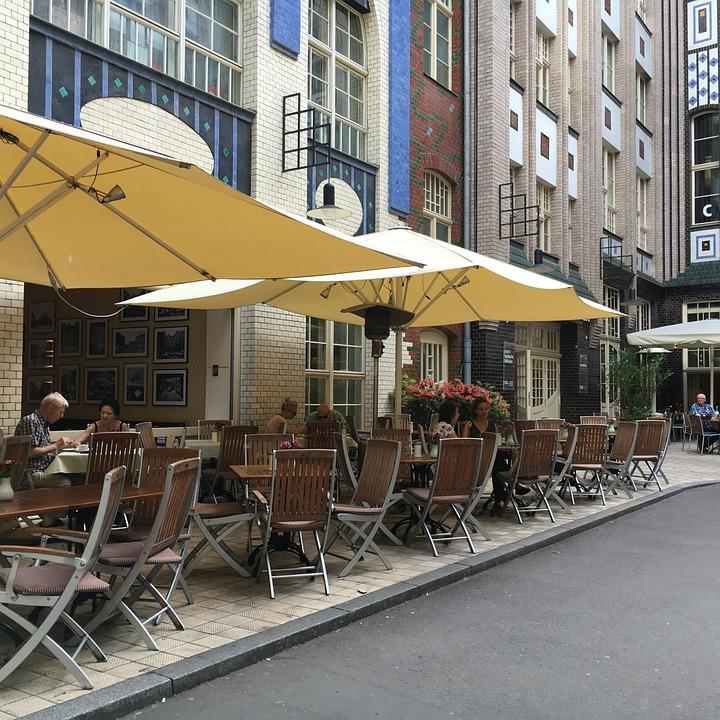 Cafeteria, Terrace, Berlin, Street, City