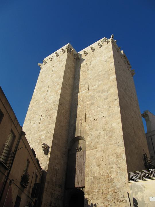 Elephant Tower, Cagliari, Sardinia, Old Town