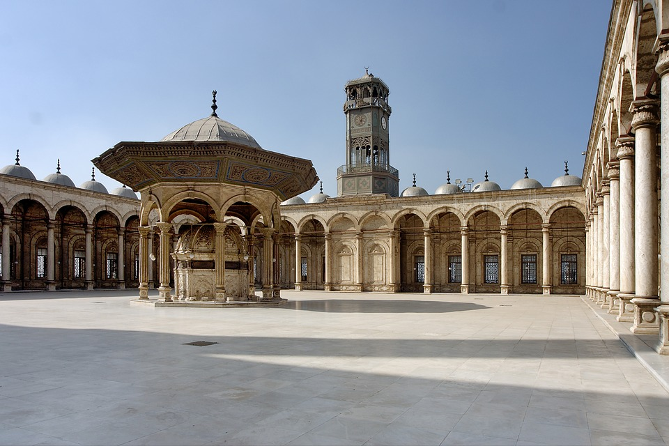 Mosque, Cairo, Egypt, Alabaster Mosque, Courtyard