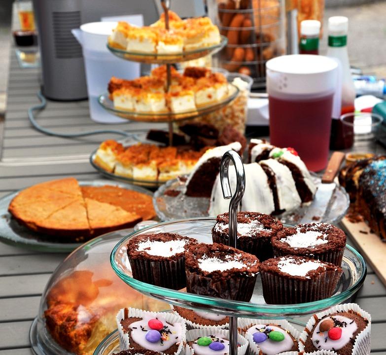 Cake, Festival, Buffet, Bake, Pastries