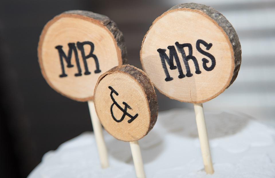 Wedding Reception, Wedding, Cake, Cake Topper, Mr Mrs