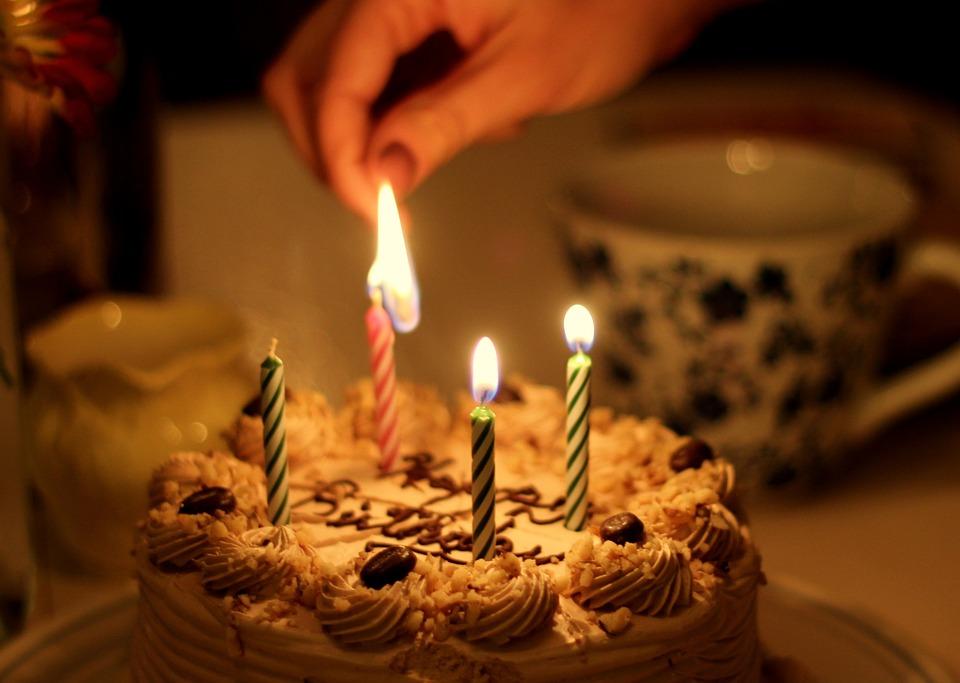 Free Photo Cake Candle Birthday 4 Celebrating Set On Fire Max Pixel