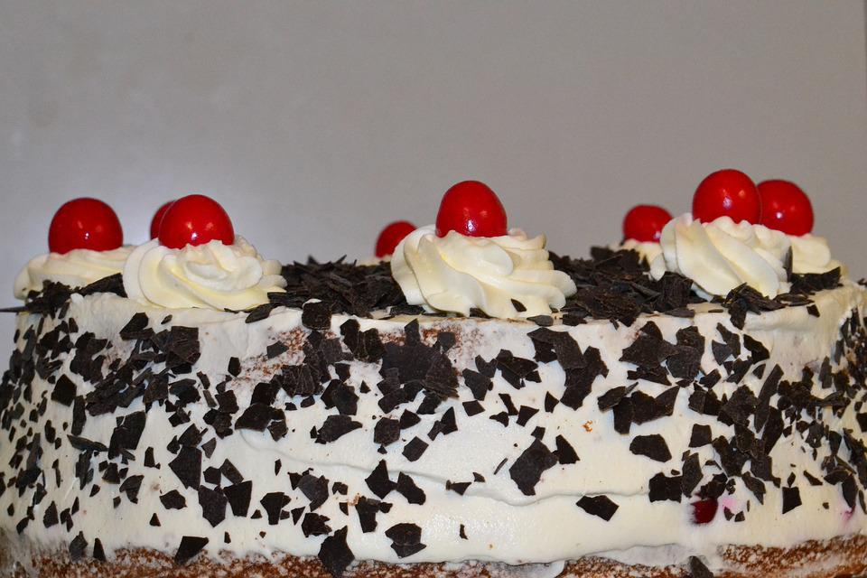Black Forest Pie, Cake, Cream Cake, Chocolate Chips