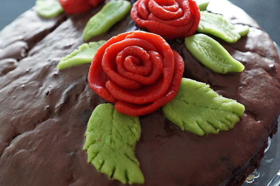 Cake, Delicious, Roses, Decoration, Eat, Chocolate