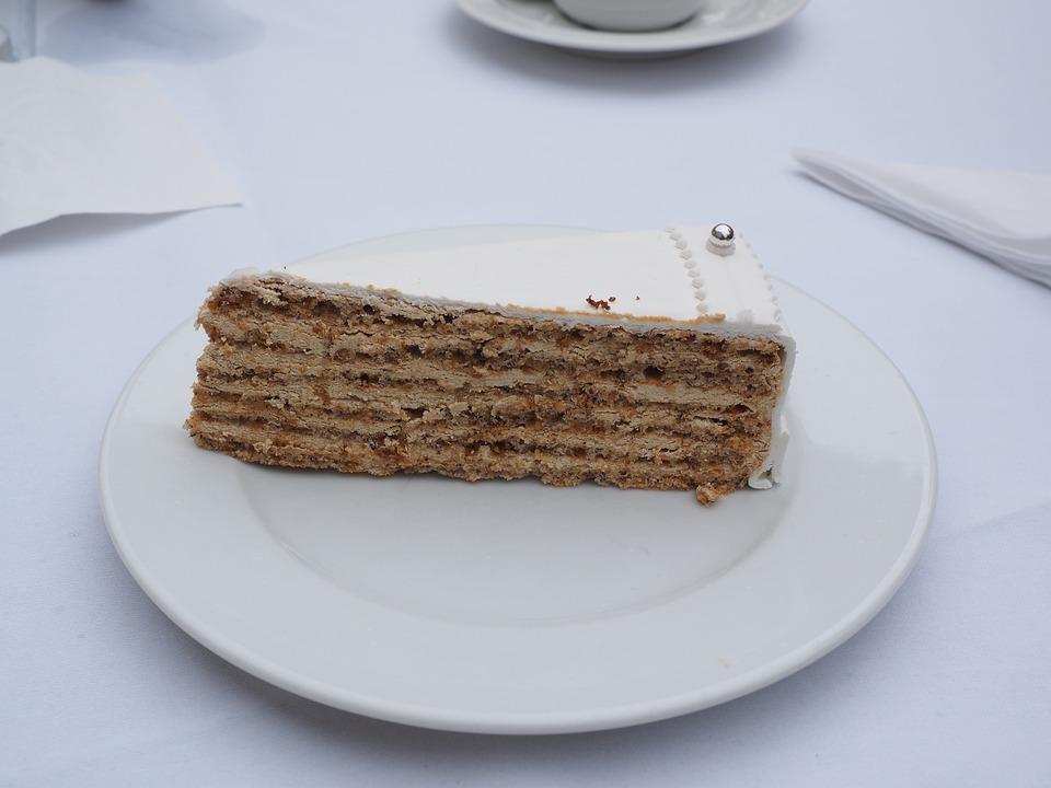 Cake, Piece Of Pie, Wedding Cake, Delicious, Sweet