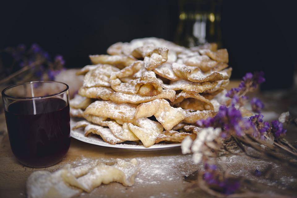 Eating, Culinary Arts, Healthy, Faworki, Cake, Eat
