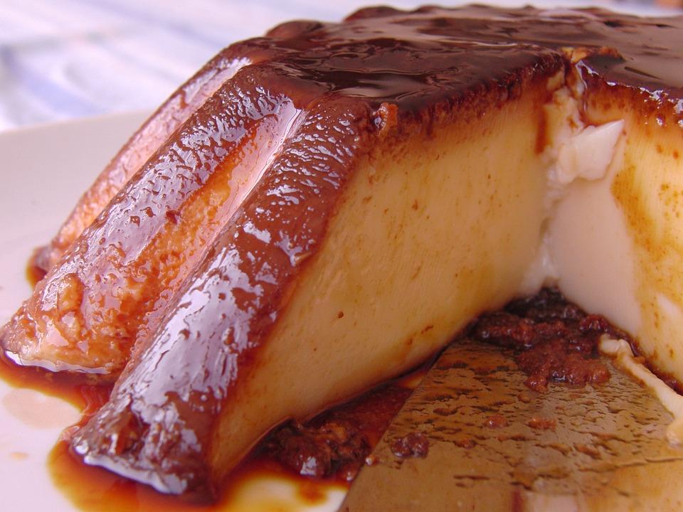 Flan, Dessert, Sweet, Cake, Brown