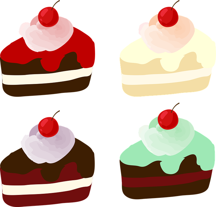 Cake, Piece Of Cake, Sweet, Food, Dessert