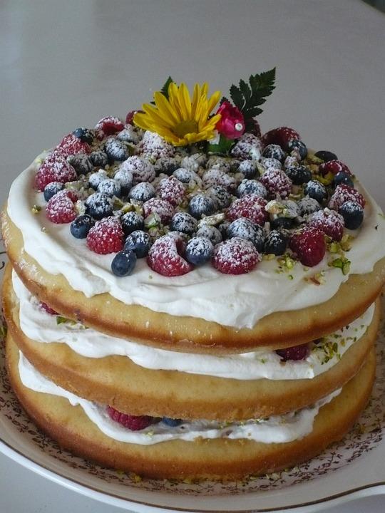 Fruit, Cake, Pastry