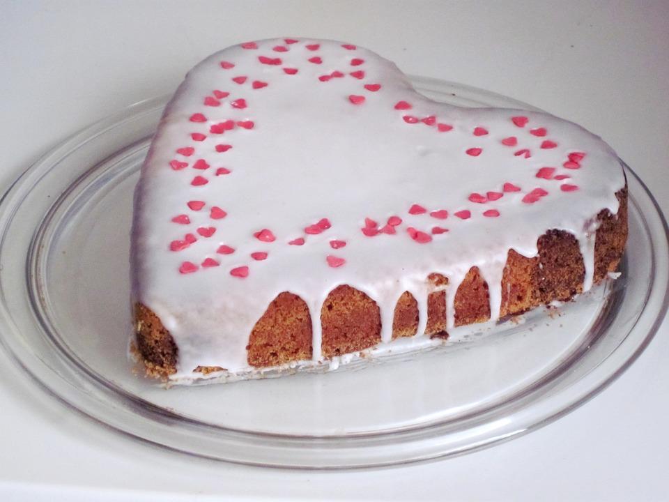 Cake, Heart, Love Cake, Heart Cake, Love, Ornament, Eat