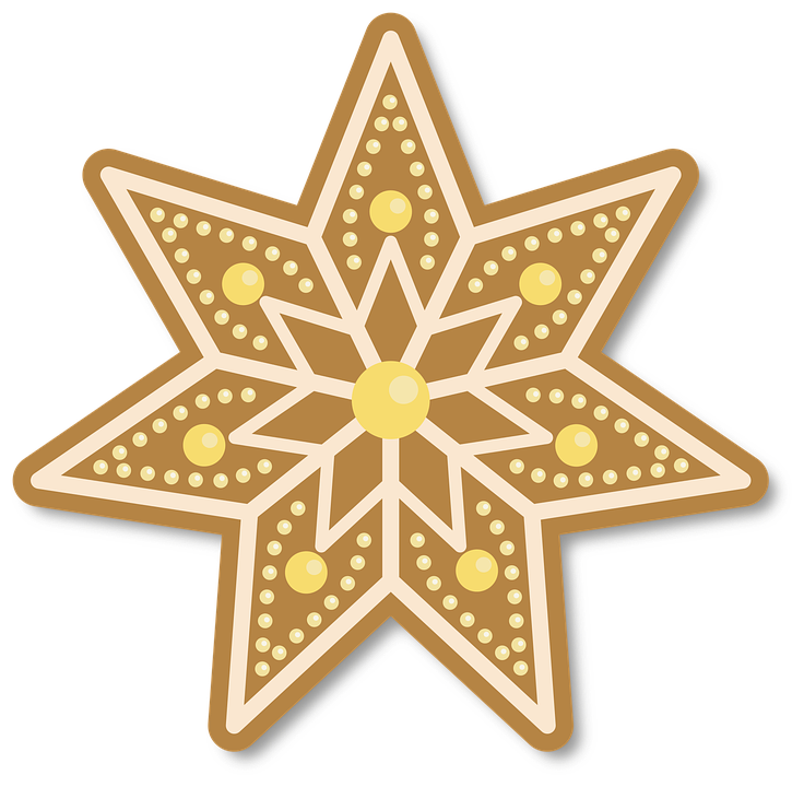Free photo Cake Merry Christmas Gingerbread Christmas Star - Max Pixel