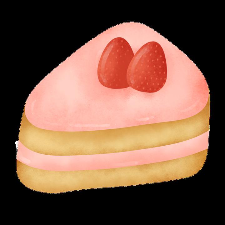 Birthday, Strawberry, Cake, Pie, Slice, Strawberry Cake