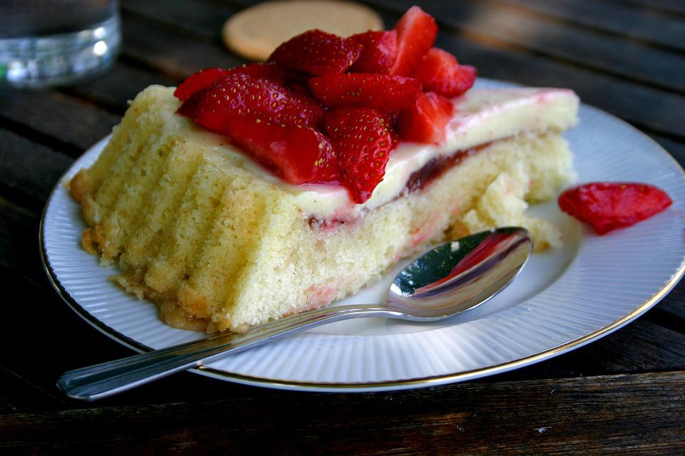 Coffee Break, Cake, Strawberry