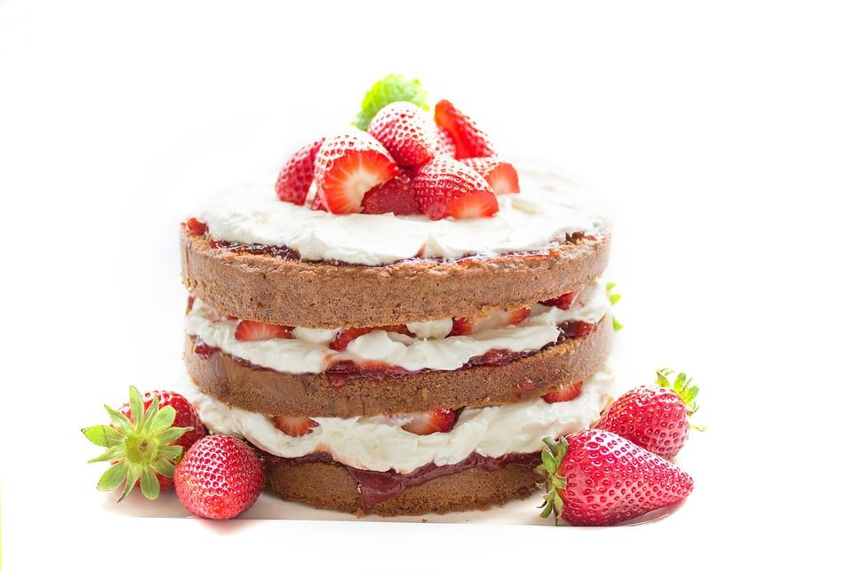 Cake, Bake, Chocolate, Strawberry, Cream, Sweet