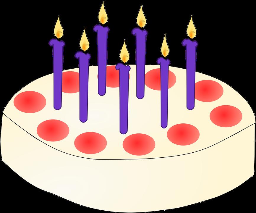 Birthday Cake, Birthday, Cake, Candles, Sweets, Food
