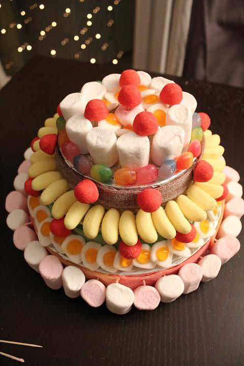Candy, Cakes, Cakes Candy, Delicacies, Colors, Birthday