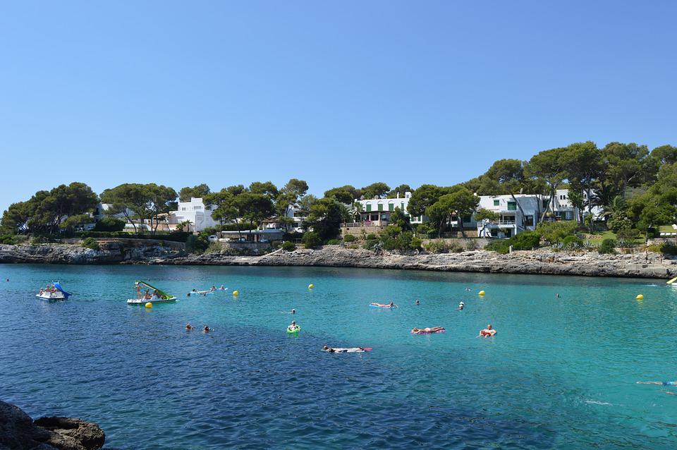 Mallorca, Cala Gran, Cala D'or, Summer, Humans Sweeming
