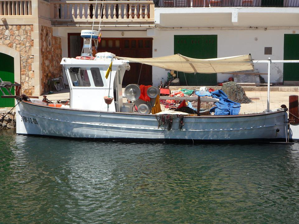 Fishing Boat, Port, Mallorca, Cala Figuera, Sea