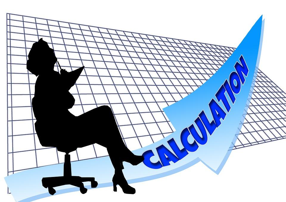 Executive, Businesswoman, Grid, Arrow, Calculation