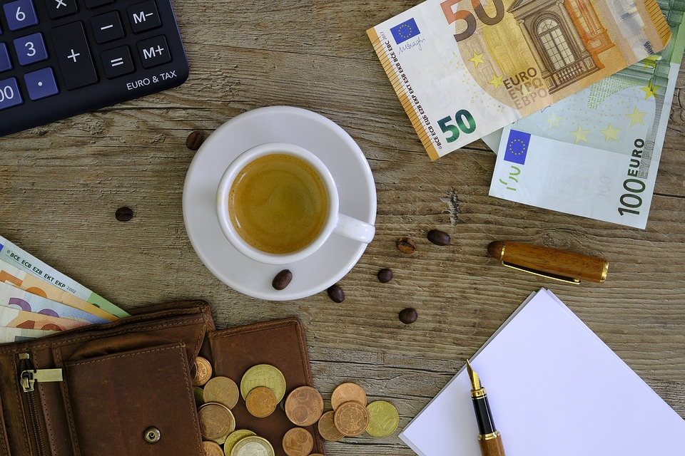 Money, Bank Note, Coins, Euro, Purse, Calculator, Count