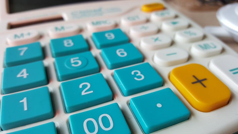 Calculator, Numbers, Office Supplies