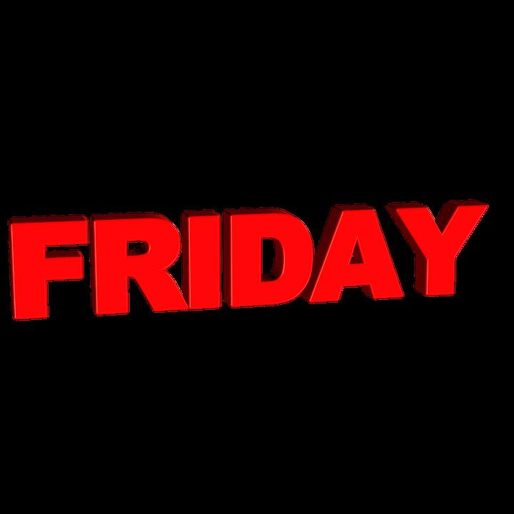 Friday, Day, Week, Calendar, Word, Text