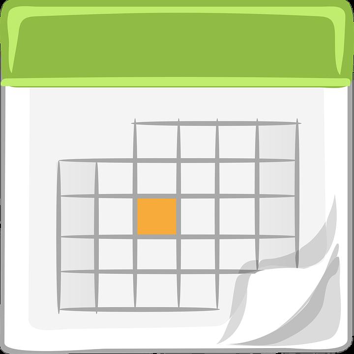 Calendar, Green, White, Month, Fortnight, Date