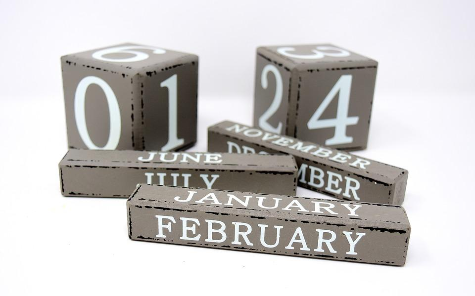Free Photo Calendar Pay Cube Wood Months Numbers Grey Clogs Max Pixel