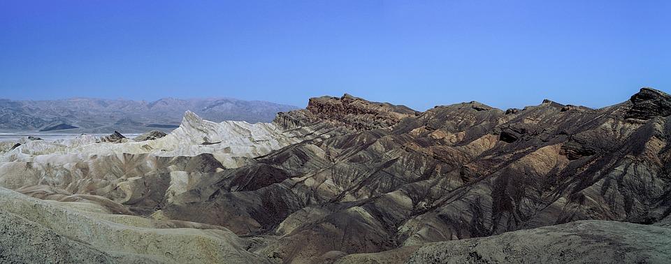 Panorama Death Valley, Mojave Desert, California