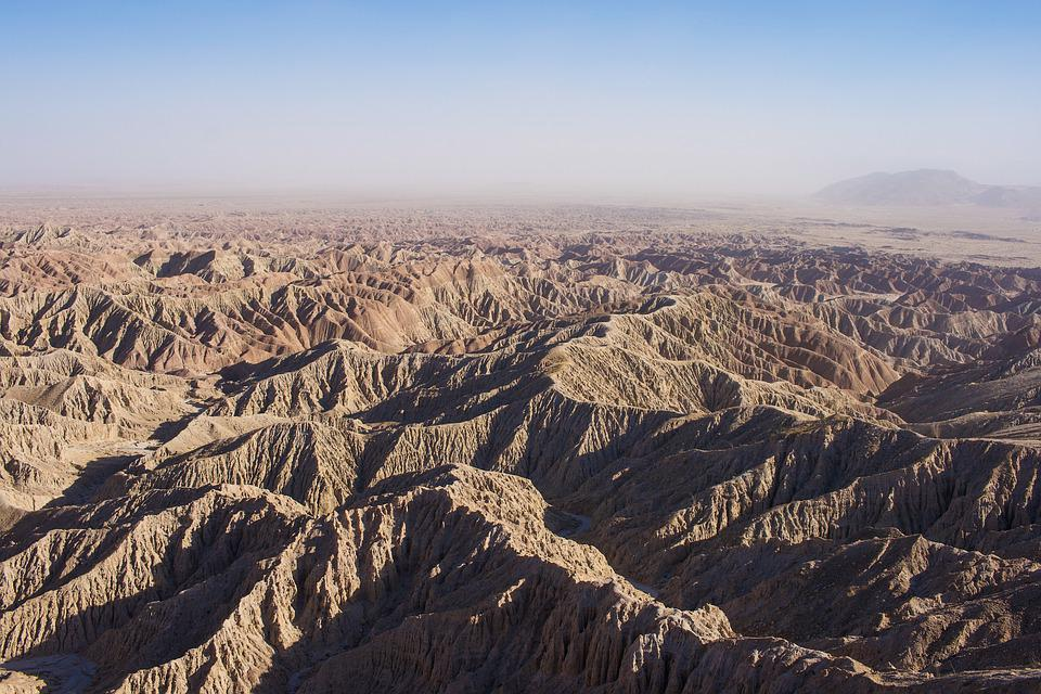 Mountains, Canyon, Desert, Arid, California, Dry, Road