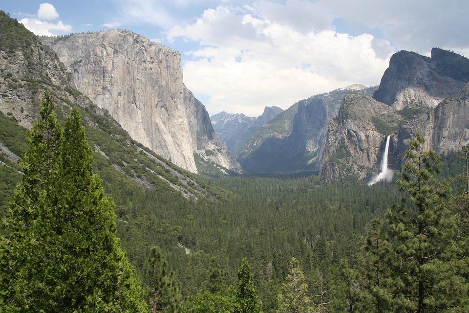 National Park, Landscape, Yosemite, Usa, California