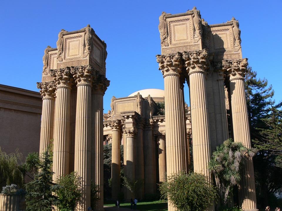 Palace Fine Arts, San Francisco, California, Pillars