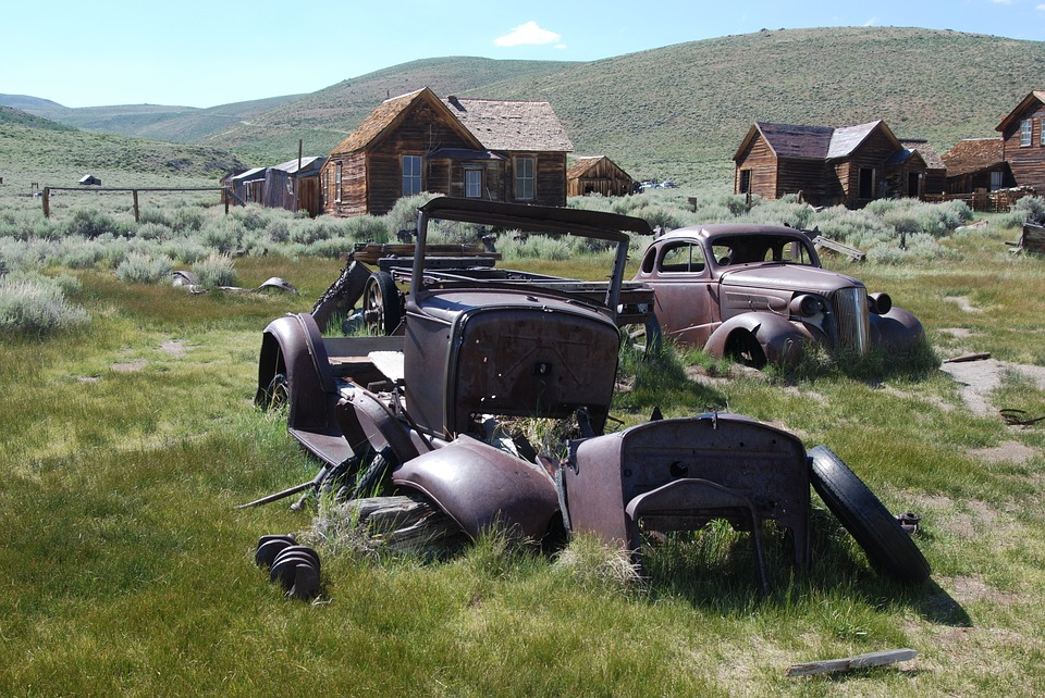 Bodie, California, Ghost Town, Car, Rust, Old, Left