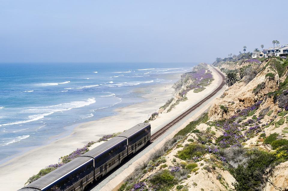 Usa, California, San Diego, Del Mar, Train