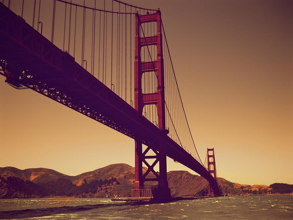 Bridge, San Francisco, Bay, California, San, Francisco
