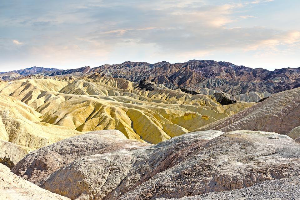 Mountains, Sandstone, Ridges, Death Valley, California