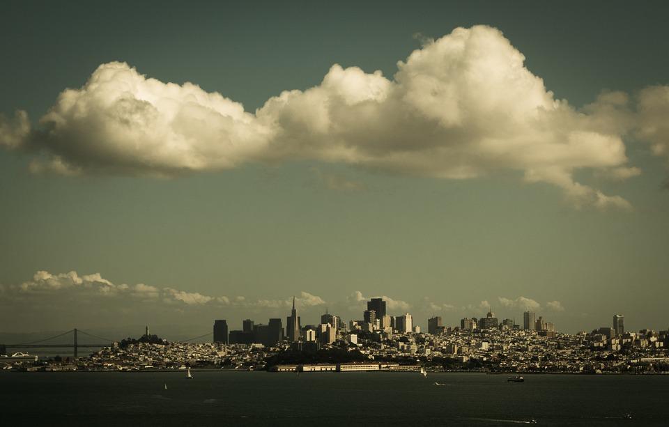 San Francisco, Summer, Usa, Architecture, California