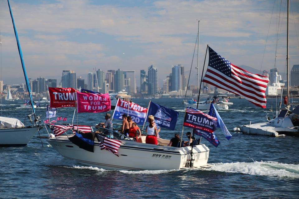 San Diego, California, Boat Parade, Trump