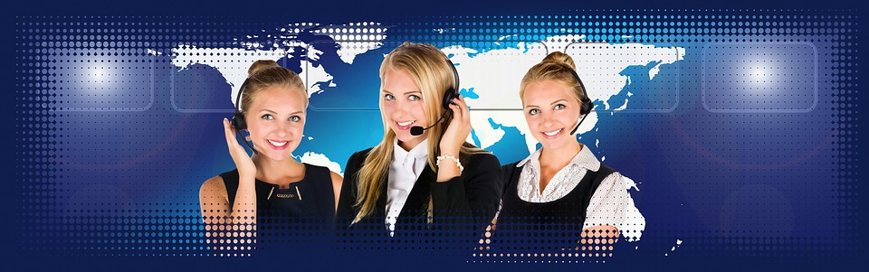 Call Center, Headset, Woman, Service, Consulting