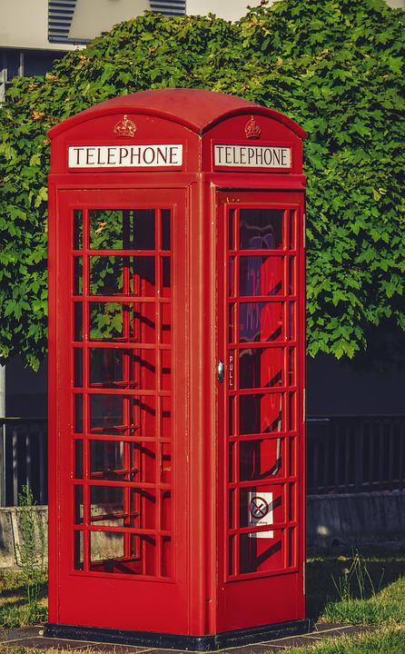 Phone Booth, English, Phone, Telephone House, Red, Call