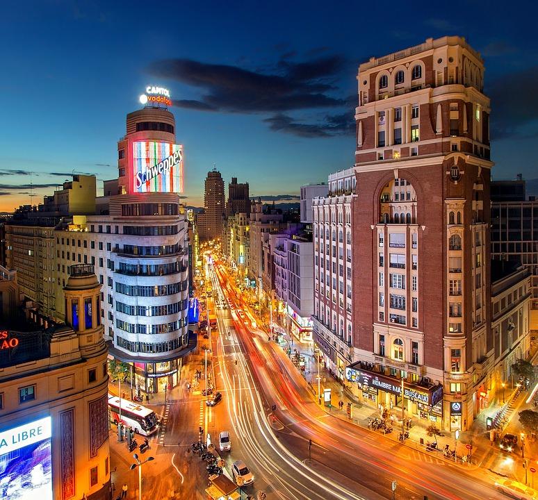 Madrid, Plaza Del Callao, Spain, Gran Vía, City, Callao