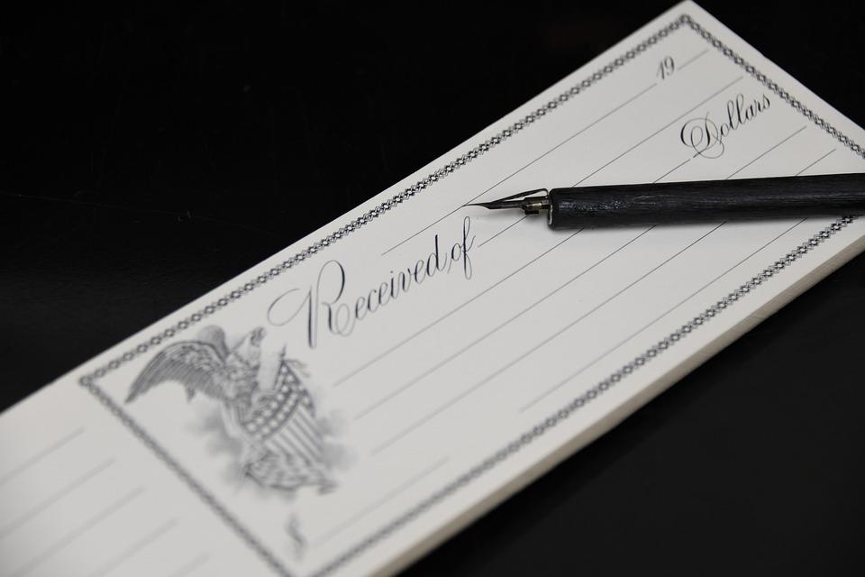 Receipt, Office, Payment, Antique, Vintage, Calligraphy